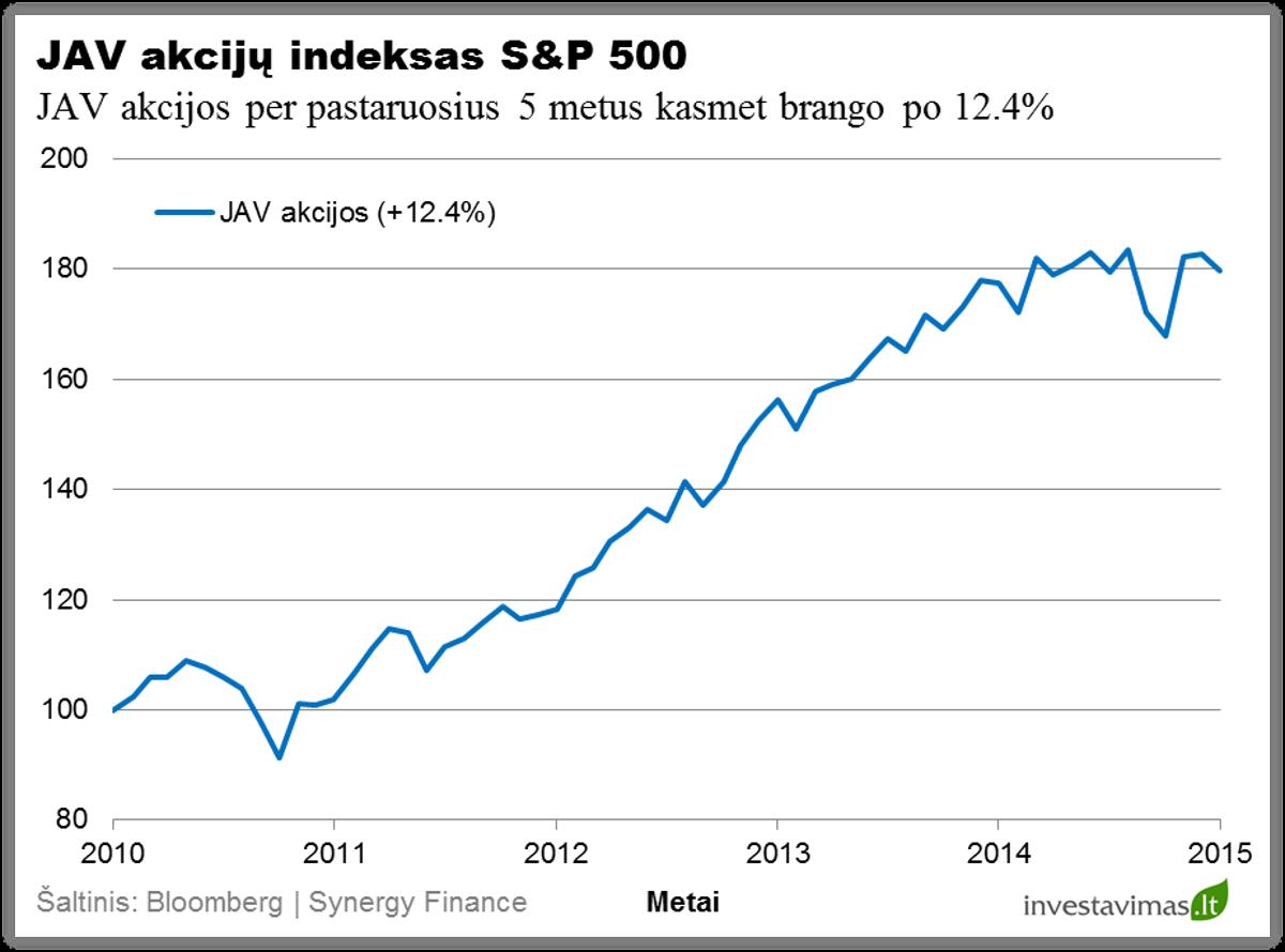 JAV akciju indeksas S&P 500